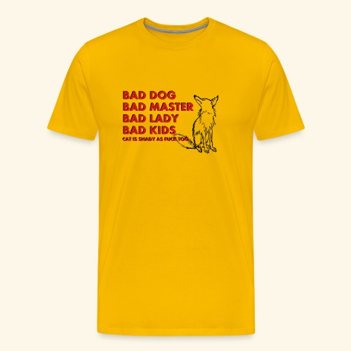 Truth about family and animals in bad, funny way - Men's Premium T-Shirt