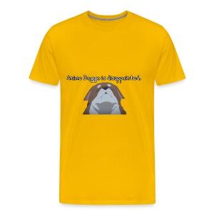 Disappointed Anime Doggo - Men's Premium T-Shirt