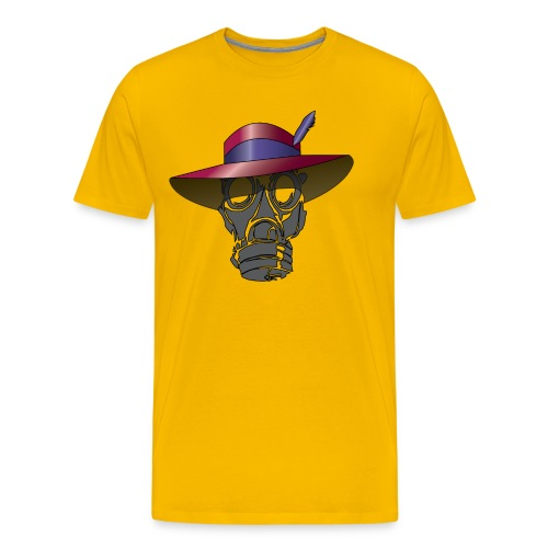 Zoot suit Hat and Gas Mask - Men's Premium T-Shirt