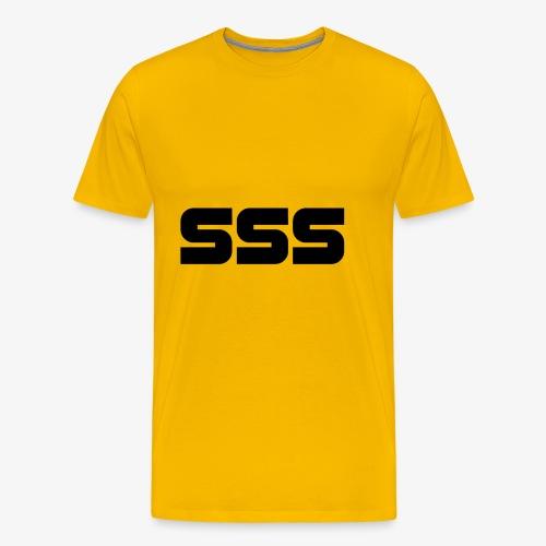 Simple SSS Design - Men's Premium T-Shirt