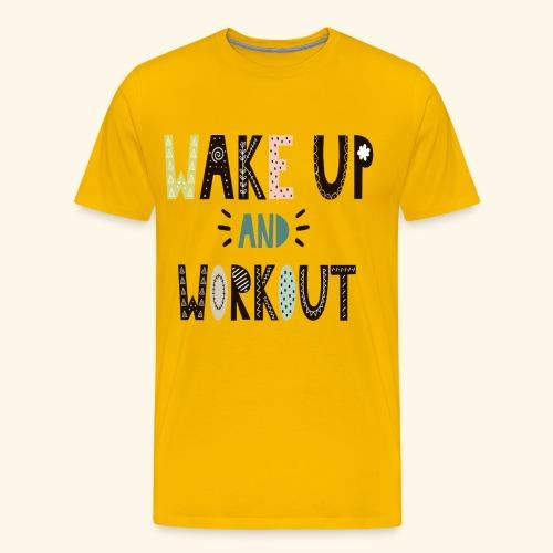 Gym Workout Design - Men's Premium T-Shirt