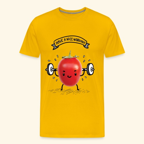 Tomato Man Gym - Men's Premium T-Shirt