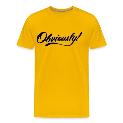 OBVIOUSLY in BLACK - Men's Premium T-Shirt