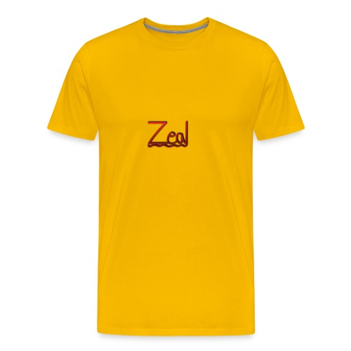 Zeal Red Logo - Men's Premium T-Shirt