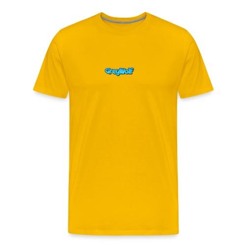 TEXT of GreyWolf - Men's Premium T-Shirt