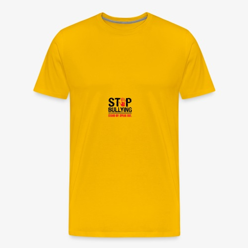 stop bullies..speak up - Men's Premium T-Shirt
