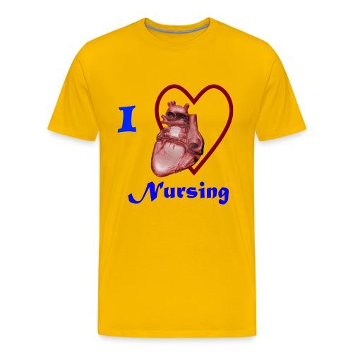 I Love Nursing - Men's Premium T-Shirt