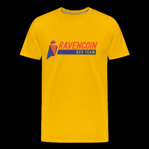 Ravencoin Dev Team RVN Developer Bird Logo - Men's Premium T-Shirt