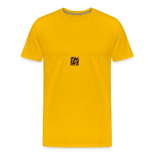 black fire flames fabric Monster Truck Madness 189 - Men's Premium T-Shirt