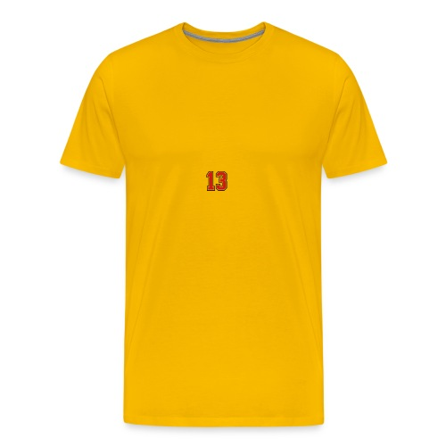 13 sports jersey football number1 - Men's Premium T-Shirt