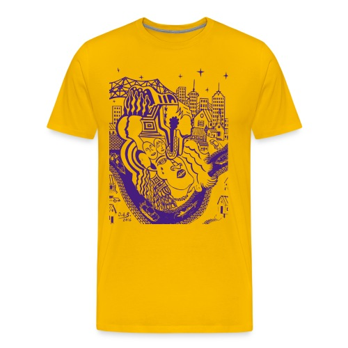 Purple Louisiana River - Men's Premium T-Shirt
