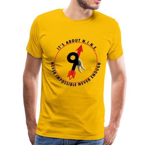 NINE Logo with Wings - Men's Premium T-Shirt