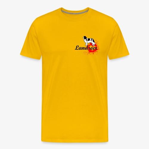 Landseer, Newfie, Newfoundland love - Men's Premium T-Shirt
