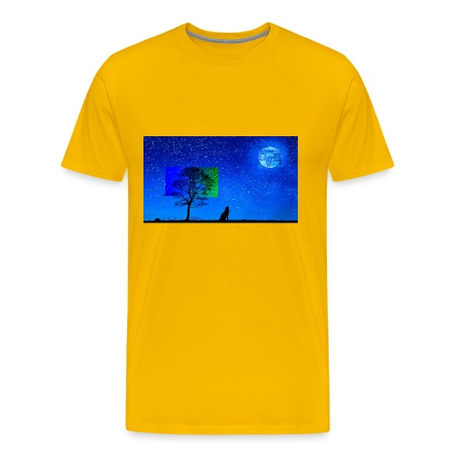 Grabthebar Lone Wolf - Men's Premium T-Shirt