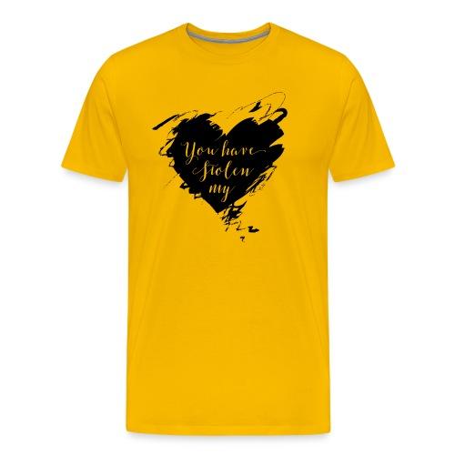 You have Stolen My Heart (Black) - Men's Premium T-Shirt