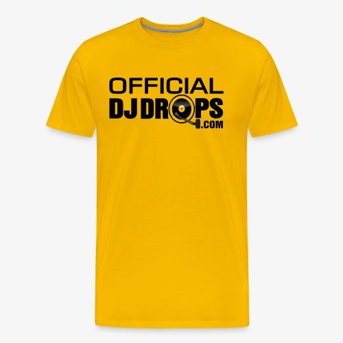 Official DJ Drops Black Logo - Men's Premium T-Shirt