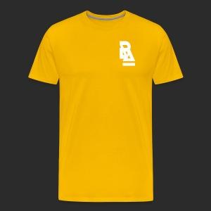 White Official BlizzardArtz Logo - Men's Premium T-Shirt