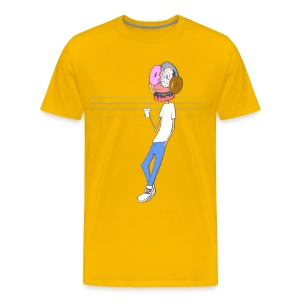 My Face Is Made of Doughnuts - Men's Premium T-Shirt