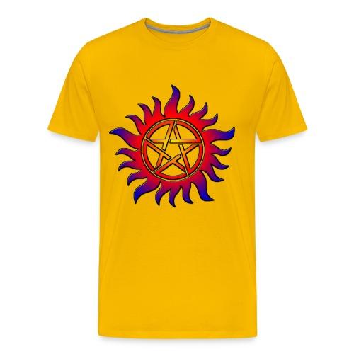 Anti Possession Symbol Sun Fire - Men's Premium T-Shirt