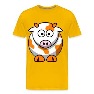 Orange Cow - Men's Premium T-Shirt