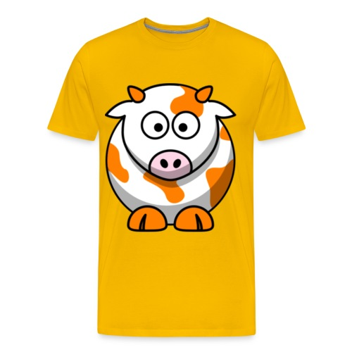 Orange Cow - Men's Premium T-Shirt