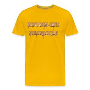 Chocolate Sunshine Horizontal Font - Men's Premium T-Shirt