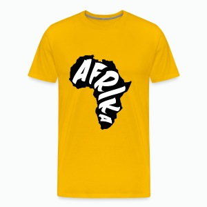 Black Afrika Continent with white word - Men's Premium T-Shirt