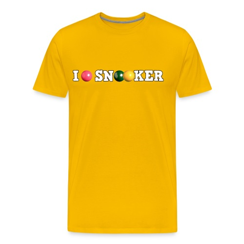 I love snooker - Men's Premium T-Shirt