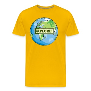 EXPLORE! Logo on the Earth - Men's Premium T-Shirt
