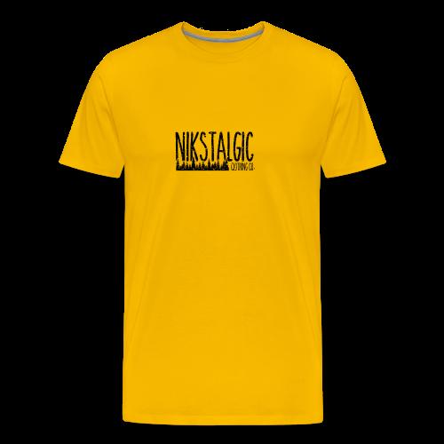 Nikstalgic - Rough Nature Black - Men's Premium T-Shirt