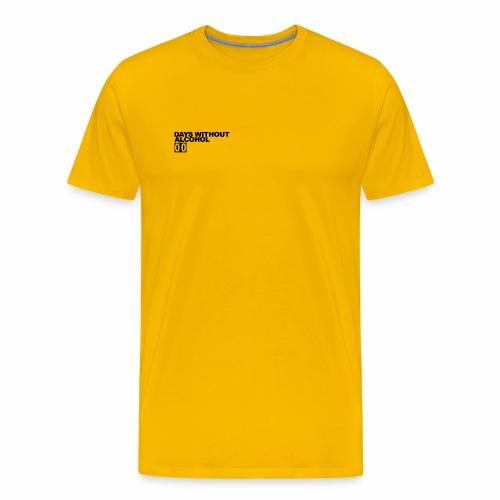 DAYS WITHOUT ALCOHOL (BLACK LOGO) - Men's Premium T-Shirt