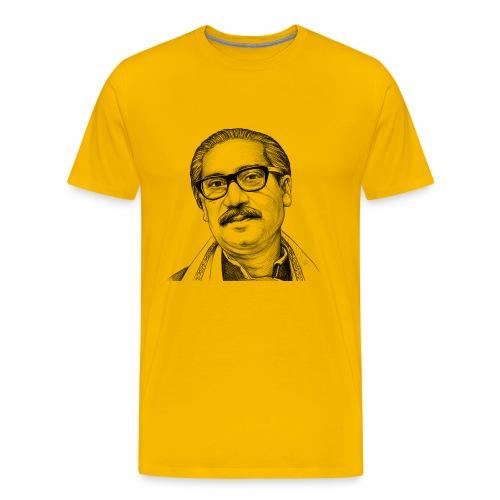 Bangabandhu sketch - Men's Premium T-Shirt