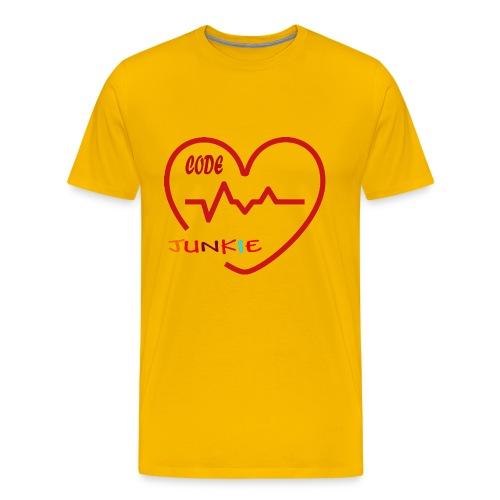 code junkie - Men's Premium T-Shirt