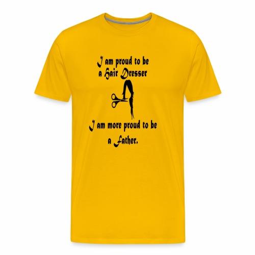 Hair Dresser Father - Men's Premium T-Shirt