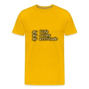 my life my rule - Men's Premium T-Shirt