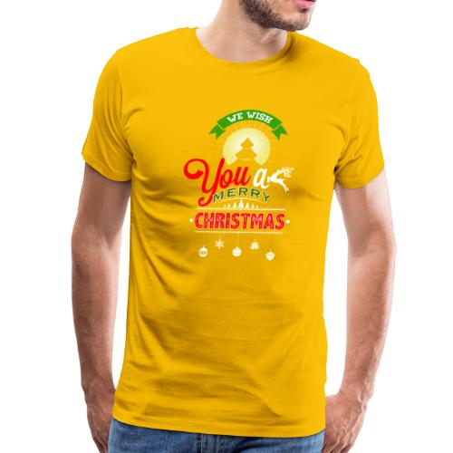 We Wish You A merry Christmas Reindeer - Men's Premium T-Shirt