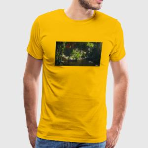 River in a Rainforest - Men's Premium T-Shirt