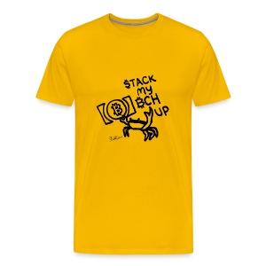 Stack My BCH Up - Bitcoin Cash Crab - Men's Premium T-Shirt