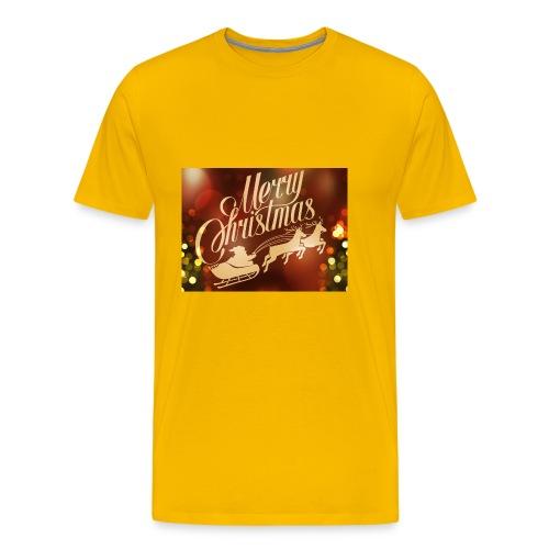 merry christmas 2015 carriage santa claus vector h - Men's Premium T-Shirt