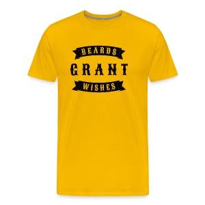 Beards grant wishes, black - Men's Premium T-Shirt