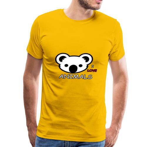 I love Animals - Men's Premium T-Shirt