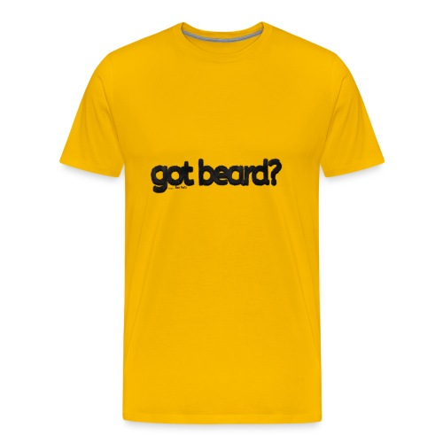 got beard?-Furry Fun-Bear Pride-Black Bear - Men's Premium T-Shirt