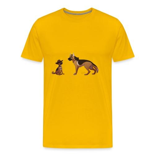 police dog - Men's Premium T-Shirt