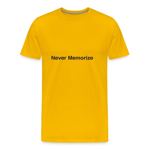 NEver memorize - Men's Premium T-Shirt