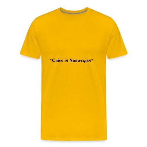 Cries in Norwegian (Skam) - Men's Premium T-Shirt