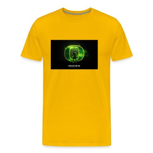 ducks_football_wallpaper - Men's Premium T-Shirt