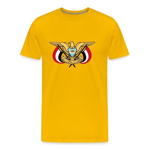 Emblem of Yemen svg - Men's Premium T-Shirt
