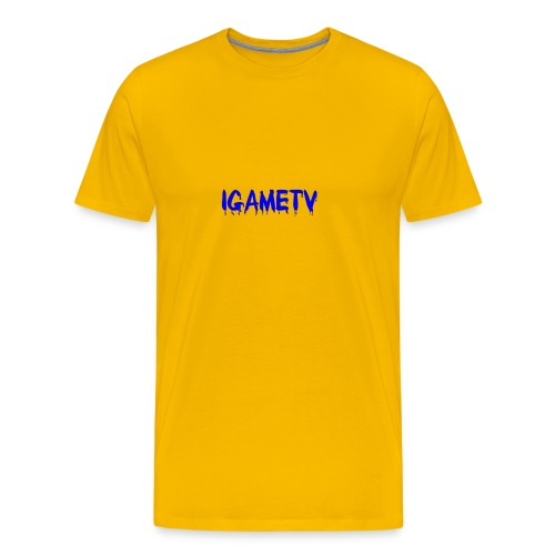 IGAME TV BLUE EDITION - Men's Premium T-Shirt