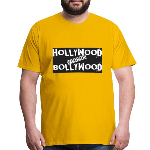 Funny Hollywood Versus Bollywood - Men's Premium T-Shirt
