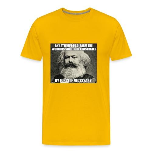 karl marx disarm workers - Men's Premium T-Shirt